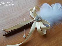 Pierka - svadobné pierko béžovohnedé - 6322031_