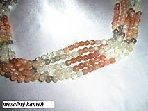 Minerály - mesačný kameň 5-6mm korálky - celá šnúra! - 6321435_