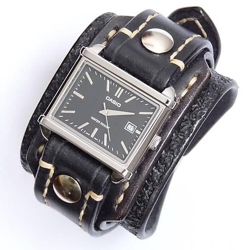 e7da5f445 Čierny kožený remienok s hodinkami casio / leon - SAShE.sk ...