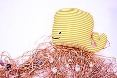 - Textilná hračka žltá rybkaVELE  - 6323319_