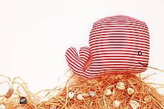 - Textilná hračka červená rybkaVELE - 6323339_