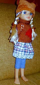 Bábiky - Sukňa,pulóver,elasťáky,čiapka - 6323304_