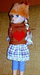Bábiky - Sukňa,pulóver,elasťáky,čiapka - 6323305_