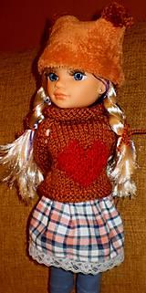Bábiky - Sukňa,pulóver,elasťáky,čiapka - 6323315_