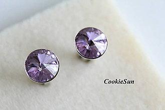 Šperky - Manžetové gombíky Swarovski Rivoli Violet Rh - 6324362_