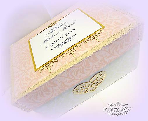 Krabica na svad. pohľadnice