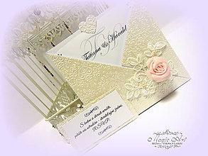 """Papiernictvo - Svadobné oznámenie """"Lady Rose"""" - 6320135_"""