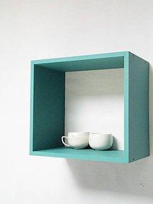 Nábytok - Polička zeleno-modrá - 6322040_