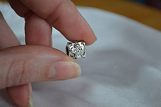 Korálky - Pandorková korálka s krížom, 0.40€/ks - 6322690_