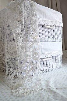 Košíky - Biely box do šatníka/ks - 6322620_