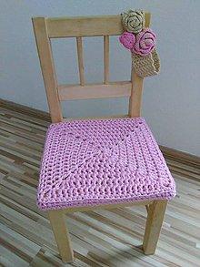 Úžitkový textil - Podsedák na detskú stoličku - ružový - 6321566_