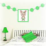 Tabuľky - Girlanda so zvieratkom do detskej izby - zajačica - 6323331_