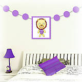 Tabuľky - Girlanda so zvieratkom do detskej izby - lev - 6323335_