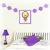 Tabuľky - Girlanda so zvieratkom do detskej izby - 6323335_