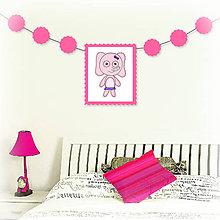 Tabuľky - Girlanda so zvieratkom do detskej izby (slonica) - 6323323_