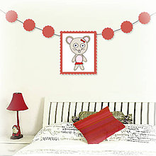 Tabuľky - Girlanda so zvieratkom do detskej izby (myška) - 6323324_