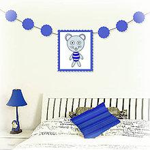 Tabuľky - Girlanda so zvieratkom do detskej izby (myšiak) - 6323325_