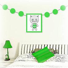 Tabuľky - Girlanda so zvieratkom do detskej izby - kocúr - 6323327_