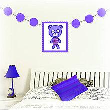 Tabuľky - Girlanda so zvieratkom do detskej izby (medveď) - 6323328_