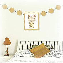 Tabuľky - Girlanda so zvieratkom do detskej izby (zajac) - 6323330_