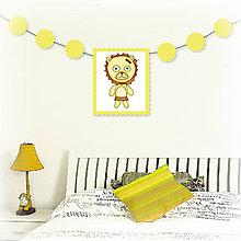Tabuľky - Girlanda so zvieratkom do detskej izby - levica - 6323333_