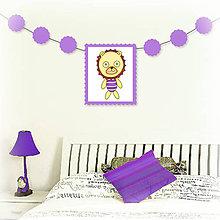 Tabuľky - Girlanda so zvieratkom do detskej izby (lev) - 6323335_