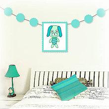 Tabuľky - Girlanda so zvieratkom do detskej izby - psík - 6323336_