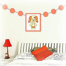 Tabuľky - Girlanda so zvieratkom do detskej izby - fenka - 6323338_