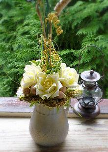 Dekorácie - Žlté ruže,... - 6325306_