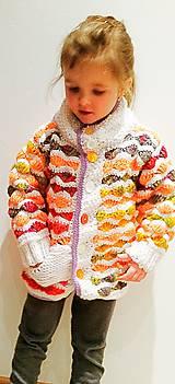 Detské oblečenie - Svetrík farebný... - 6327873_