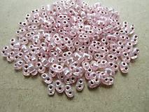 - K02 - TWIN - Preciosa - 10 g - perleťová ružová, tmavý prieťah - 6325527_