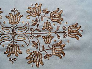 Úžitkový textil - Vyšívaný set tulipány I. - 6326137_