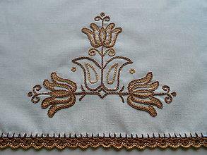 Úžitkový textil - Vyšívaný set tulipány II. - 6326196_