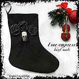 - Vianočná ponožka s lebkou - 6328081_