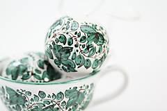 Dekorácie - Zelené dekoračné gule - 6326235_