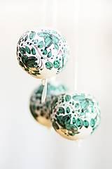 Dekorácie - Zelené dekoračné gule - 6326237_