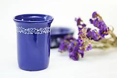 Nádoby - Kobaltový pohár do kúpeľne - 6326277_