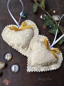 Darčeky pre svadobčanov - Svadobné srdiečko - 6326882_
