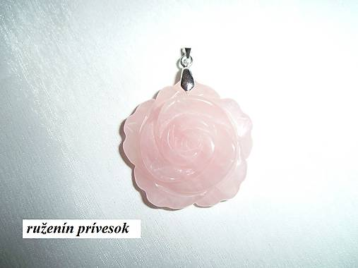 085e00379 Ruženín kvet prívesok / Sima-polodrahokamy - SAShE.sk - Handmade ...