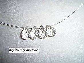 Minerály - kryštál slza brúsená - 6325282_
