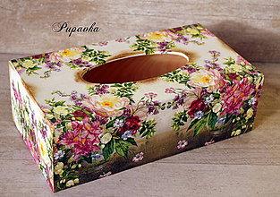 Krabičky - Box na vreckovky - 6326008_