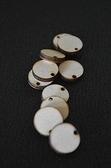Polotovary - drevený výsek - kruh 1,5 cm - 6327627_