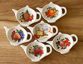 Nádoby - Odkladací tanierik na čajové vrecko - veľký - 6326925_