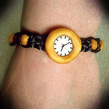 Náramky - Fake hodinky - shamballa náramok - 6326165_