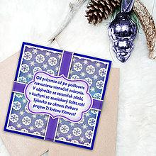 Papiernictvo - Vianočná pohľadnica s básničkou (snehové vločky) - 6326932_