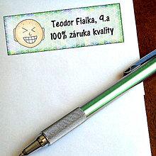 Papiernictvo - Vtipná menovka na písomku - 100% záruka kvality - 6327149_