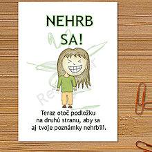 Papiernictvo - Linajková podložka do zošita Nehrb sa (8) - 6327422_