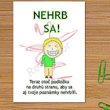 Papiernictvo - Linajková podložka do zošita Nehrb sa (10) - 6327428_