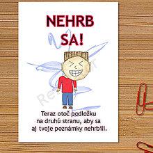 Papiernictvo - Linajková podložka do zošita Nehrb sa (14) - 6327442_