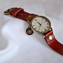 Iné šperky - ČERVENÉ ELEGANTNÍ HODINKY - 6328998_
